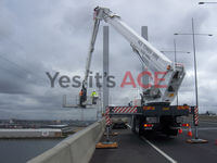 At the Bolte Bridge we did inspections and maintaince